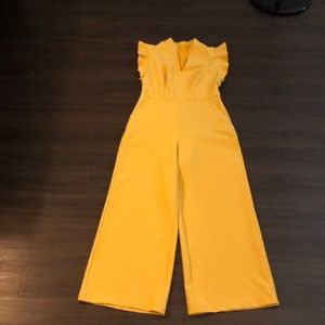Mustard color jumpsuit
